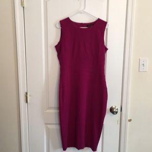Ivanka Trump plum sleeveless dress 12